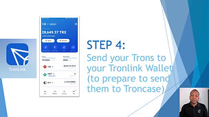 STEP 4 - Move Trons to Tronlink Wallet