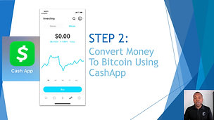 STEP 2 - Convert Money to Bitcoin in Cashapp