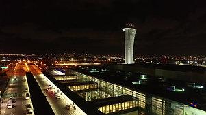 Ben Gurion airport at night | נמל התעופה בן גוריון ממעוף הרחפן בלילה