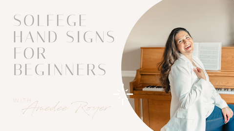 Solfege Hand Signs for Beginners