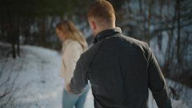 doug & destiny's snowy proposal