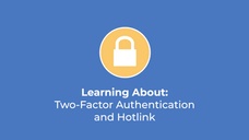 Two Factor Authentication and Hotlink