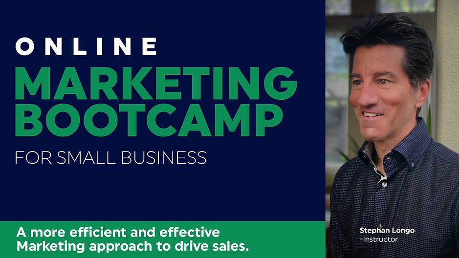 Marketing Bootcamp for Small Business - 2 hrs
