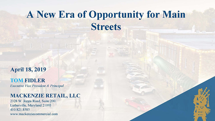 A New Era of Opportunity for Main Streets