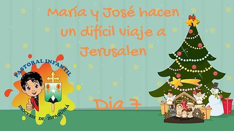 MARÍA Y JOSÉ HACEN UN DIFICIL VIAJE A BELÉN
