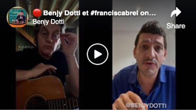 🔴  Benjy Dotti et #franciscabrel ont une bonne nouvelle pour vous !