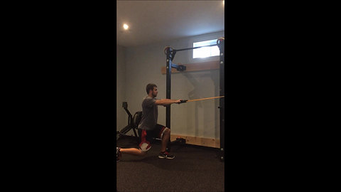 Reverse Lunge & Row - Bands