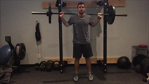 Lunge - Lateral Barbell