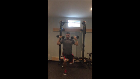 Split Squat & Press - DB