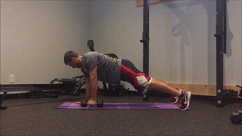 Plank w/ Row - DB