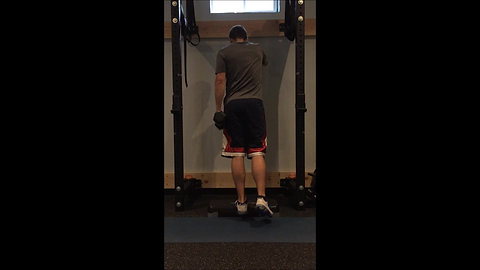 Calf Raises - 1 Leg DB