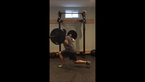 Lunge - Reverse Barbell
