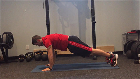 Plank - Knees to Elbows
