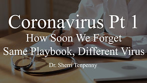 MSOM Special Report 12: Coronavirus Pt 1 - How Soon We Forget - Same Playbook, Different Virus