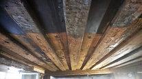 Holzdecken abstrahlen