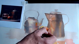 Watercolour Wednesday Copper Still Life 26 5 21