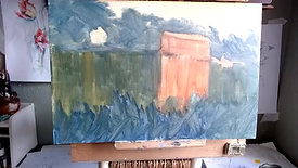 Oil Painting Stourminster Mill part 1 26 5 21