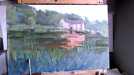 Oil Painting Wednesday Sturminster Mill part 2