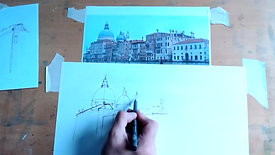 Drawing Cafe Grand Canal 24 5 21