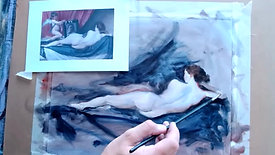 Oil Painting Reclining Figure 16 6 21