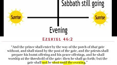 Sunrise to Sunrise Sabbaths proven wrong