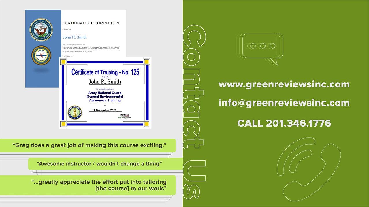 Green Reviews Inc