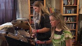 Drumming (Dora Zodrow and Josie Margan)
