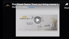 "Pint Sized Opera ""from our living rooms to yours"