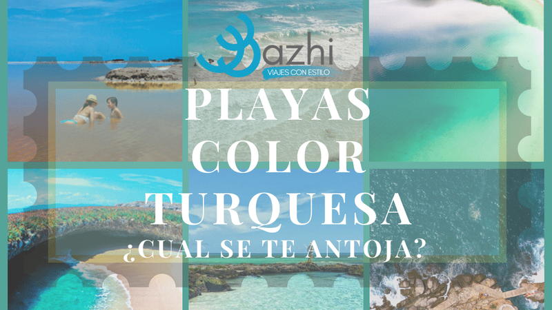 PLAYAS COLOR TURQUESA