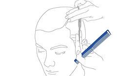 Férfi hajvágó fogásredszer vetítés -  A3
