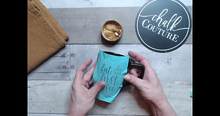 Inking on a mug - Chalk Couture