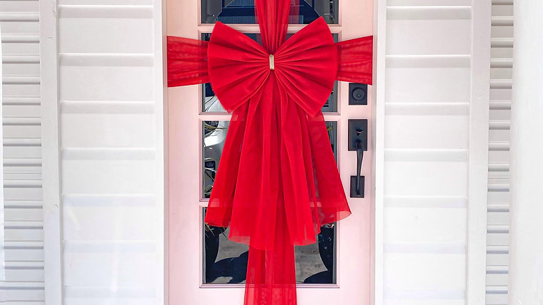 THE Red Bow - Velcro