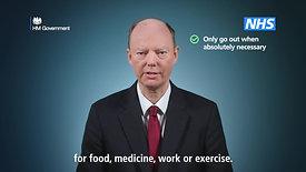 Coronavirus Pandemic - Chris Whitty 'Stay at Home' TVC