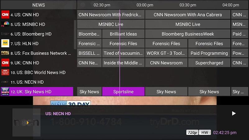 NitroTV - News channels line up
