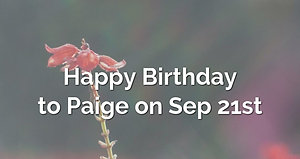 15th to Richard - 17 years and paige bday