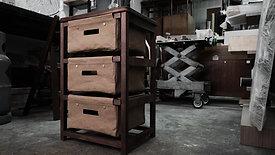黑胡桃木儲物紙櫃