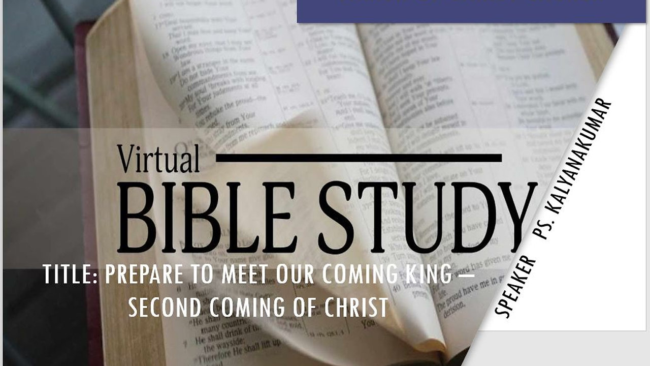 Bible Study - Second Coming of Jesus