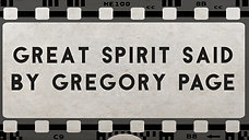 Great Spirit Said