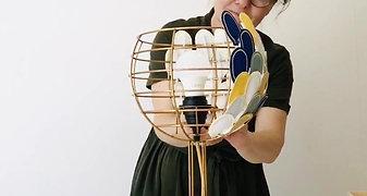 Lampe Olea fait main en France