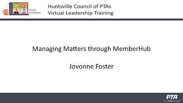 Managing PTA Through MemberHub Presentat