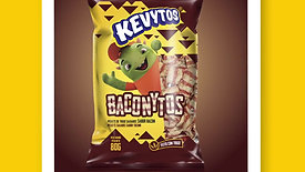 Kevytos pellets salgados de trigo Baconytos