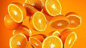 oranges flying