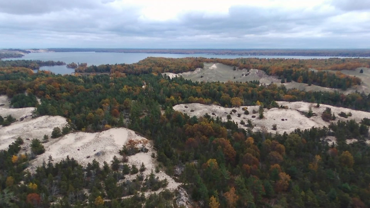 Drone Ludington October 2018 State Park Arial AMP