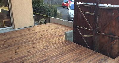 Terrasse bois après rénovation