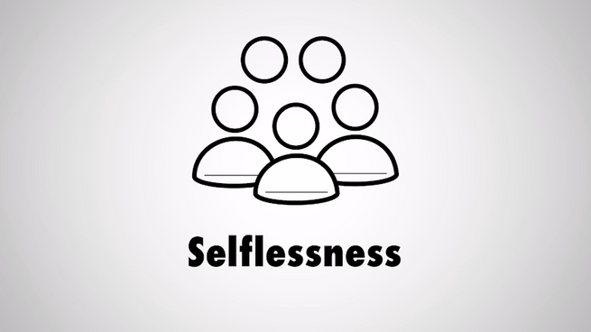 Habits of Character - Selflessness