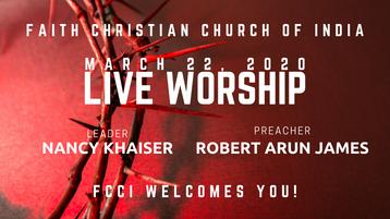 FCCI Live Worship 03/22/2020