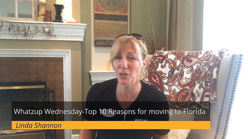Whatzup Wednesday-Top 10 Reasons for moving to Florida