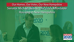 Michael Bennet at Nashua Soup Kitchen and Shelter