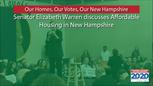 Elizabeth Warren discusses affordable housing in New Hampshire