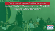 Elizabeth Warren discusses affordable housing in New Hampshire